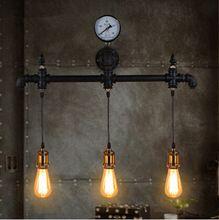 Tuyau d'eau Loft American Vintage appareils de la lampe Murale pour la maison…