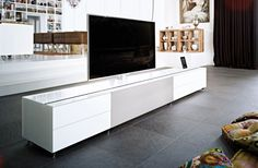 As proud as you are of your multimedia equipment, that doesn't mean you want to look at it all the time. With COCOON, the multifunctional media furniture from Spectral Audio Möbel, you don't have to. Tv Unit, Furniture, Home, Living Room Decor, Media Furniture, Smart Living, Home Theater Installation, Cocoon, Tv Furniture