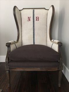 French Tufted Wingback Chair Painted In ASCP And Waxed For A Perfect  Finish. Chair Was Upholstered Using A Gu2026 | C H A I R S U2022 S O F A S U2022 S E T  T E E S ...