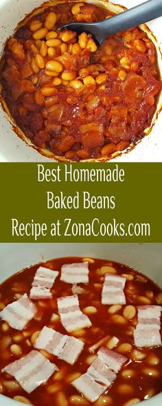 Best Homemade Baked Beans - This easy and delicious small batch recipe of Homemade Baked Beans is packed full of onion and bacon. Ketchup, molasses, and brown sugar give these baked beans a sweet barbecue flavor and are slow cooked in the oven. #BakedBeans #SmallBatch #SideDishForTwo #RecipesForTwo Bean Recipes, Side Dish Recipes, Side Dishes, Homemade Baked Beans, Meals For Two, Brown Sugar, Barbecue, Onion, Barbacoa