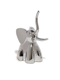 Add a little pizazz to your ring storage with this charming animal ring tree, crafted from high-shine chrome for a unique, modern look.