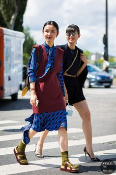 Sherry Shen and Leaf Greener Street Style Street Fashion Streetsnaps by…
