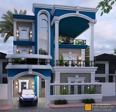 Modern Exterior House Designs, Classic House Exterior, Latest House Designs, Modern House Design, Duplex House Plans, Bungalow House Design, House Front Design, Dream House Plans, House Design Pictures