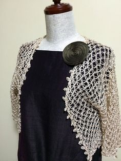 Ravelry: BR-11832 Simple Bolero with Lover's Knot pattern by RichMore Design (リッチモア企画)