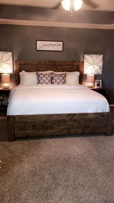 10 Simple and Crazy Ideas Can Change Your Life: Guest Bedroom Remodel bedroom remodel on a budget builder grade.Rustic Bedroom Remodel Joanna Gaines bedroom remodel on a budget how to decorate. Dream Bedroom, Home Bedroom, Bedroom Carpet, Modern Bedroom, Bedroom Wall, Farm Bedroom, Bedroom Suites, Stylish Bedroom, Bedrooms With Carpet