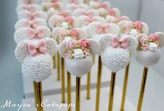 """""""Whatever you do, do it well. Minnie Maus Cake Pops, Minnie Mouse Cookies, Bolo Minnie, Mickey Mouse Cake, Minnie Mouse Pink, Minnie Mouse Party, Mickey Cakes, Birthday Sweets, 2nd Birthday Party Themes"""