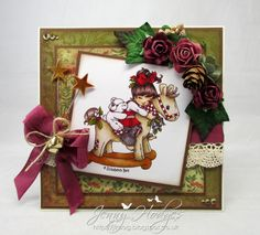 Design by Jenny: Using a Hobby House image with a new Elisabeth Bell stamp!