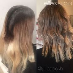 What a big change! @jillboeckh blended out clients regrowth. Loving the results!
