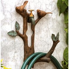 Find items like Bird & Branch Hose Holder at Signals. Two chubby birds know just where to find a drink on a summer day. The branch they chose just happens to keep your garden hose neatly coiled. Garden Hose Storage, Garden Hose Holder, Ikea Garden Furniture, Outdoor Furniture, Hose Hanger, Home Vegetable Garden, Bird On Branch, Hardy Plants, Tree Branches