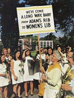 VINTAGE: Women's rights march~