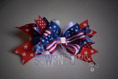 20130629 160140 Patriotic Hairbows