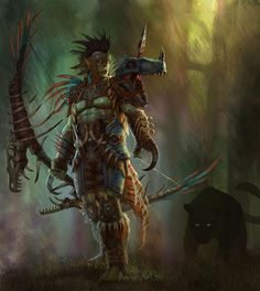 Stranglethorn Hunter by Eric Ryan - Game Boosting services Fantasy Male, High Fantasy, Fantasy Warrior, Egypt Concept Art, Concept Art World, Character Concept, Character Design, Character Inspiration, Character Art
