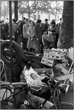 Magnum Photos -  Henri Cartier-Bresson // FRANCE. Paris. 1952-1953. Flea market.