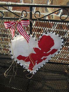 Burlap Cupid Door Hanger!