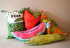 Oversized Fabric Fruit and Veg