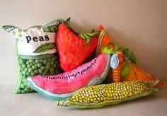 Oversized Fabric Fruit and Veg