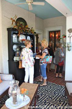 Mary Carol Garrity's Home Tour @ CreatingThisLife.com  Nell Hill's Atchison Kansas