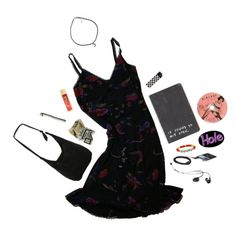 """Grungy"" by izzy-boo-kitty ❤ liked on Polyvore featuring Miss Selfridge, claire's, Disney and grunge"
