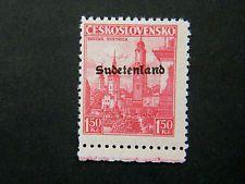 Local DR WW II Occup Sudetenland overpr.Konstantinsbad Mi 13 MNH signed