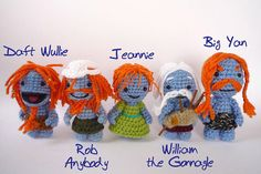 Wee Free Men and woman crocheted Nac Mac Feegle by LunasCrafts, $9.95