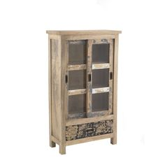 Piccadilly Shabby Chic Painted Glass Cabinet