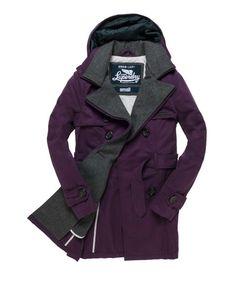 Superdry Vintage City Mac #purple #coat