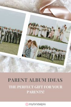 Parent Albums and Why They Make the Perfect Gift After the Wedding Parent Albums – Why They Make The Perfect Gift. Created by My Bridal Pix, DIY wedding albums and Custom wedding books. Wedding Album Gifts, Wedding Album Design, Wedding Gifts For Guests, Wedding Photo Albums, Wedding Book, Plan Your Wedding, Wedding Tips, Wedding Details, Diy Wedding
