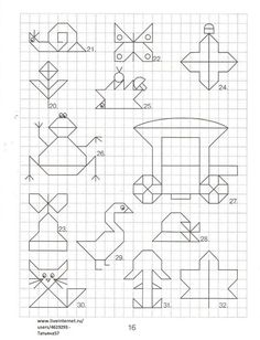 Graph Paper Drawings, Graph Paper Art, Blackwork Embroidery, Cross Stitch Embroidery, Cross Stitch Borders, Cross Stitch Patterns, Drawing For Kids, Art For Kids, Dm Foto