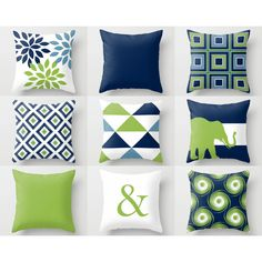 Throw Pillow Covers Navy Blue Green White Stone Couch Cushion Cover... ($26) ❤ liked on Polyvore featuring home, home decor, throw pillows, decorative pillows, grey, home & living, home décor, outdoor screen, navy blue toss pillows and grey throw pillows