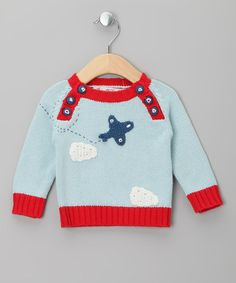 Blue Plane Sweater by Powell Craft