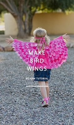 How to Make Bird Wings – a No Sew DIY Tutorial