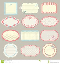 set-cute-frames-vector-illustration-35914592.jpg (1300×1390)