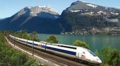 TGV - Trem francês de alta velocidade  Em matéria de carro, os franceses, são uma negação, Mas em matéria de avião e trem, são bons.