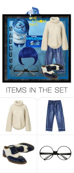 """""""Inside Out - Sadness😥"""" by aurorasblueheaven ❤ liked on Polyvore featuring art, Sadness, disney, pixar and insideout"""