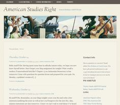 This is an American Studies blog.  The teachers post the daily tasks on the blog and each student has their own student blog for reflecting their learning.  Includes lots of pages of resources to help parents and students.