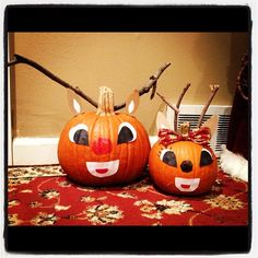 Don't throw that pumpkin away... it can become part of your Christmas decor!