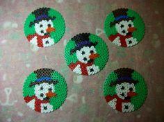 Snowmen hama perler beads by Nath Hour