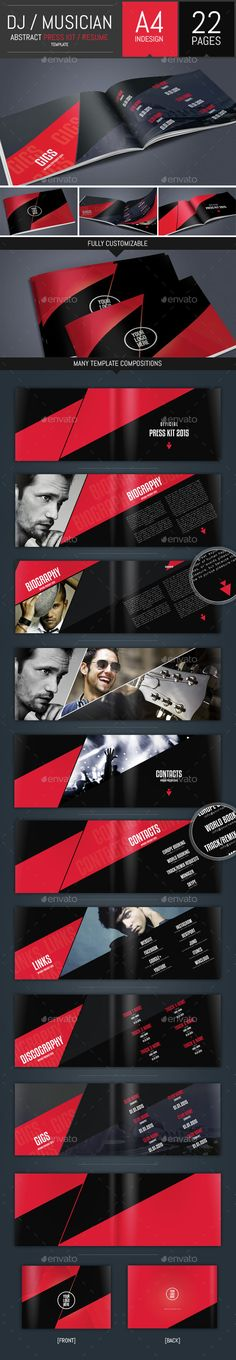 DJ and Musician Press Kit   Resume Template Press kits, Simple - Musician Resume