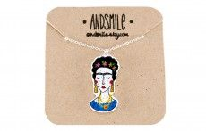 And Smile - Frida Kahlo necklace