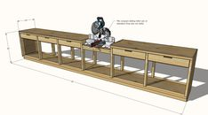 Workbench With Drawers, Workbench Plans Diy, Building A Workbench, Woodworking Bench Plans, Woodworking Workshop, Woodworking Projects Diy, Garage Workbench, Workbench Designs, Woodworking Techniques