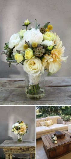 crosspollination: cafe au lait dahlias with white, yellow and brown