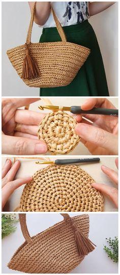 Herringbone Bag Crochet Tutorial - Design Peak - Informations About Herringbone Bag Crochet Tutorial – Design Peak Pin You can easily use my profi - Crochet Beach Bags, Bag Crochet, Crochet Diy, Crochet Handbags, Crochet Purses, Learn To Crochet, Crochet Stitches, Crochet Patterns, Afghan Patterns