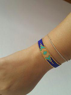 miyuki bileklik Seed Bead Jewelry, Bead Earrings, Diy Jewelry, Beaded Jewelry, Beaded Cuff Bracelet, Bead Loom Bracelets, Cuff Bracelets, Peyote Beading, Bijoux Diy