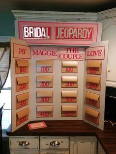 Bridal Jeopardy Board