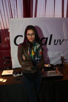 Janina Gavankar looks fierce in her Crizal UV lenses
