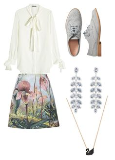 """""""Untitled #10"""" by fina-adilah-nafisah on Polyvore featuring Alexander McQueen, ADAM, Gap and Swarovski"""