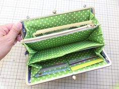 Love the zippers Purse Wallet, Coin Purse, Fabric Wallet, Frame Purse, Handmade Purses, Craft Bags, Hip Bag, Small Bags, Organizer