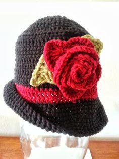 Womens Crochet Fedora Hat by MissyCreativeCrochet on Etsy, $20.00