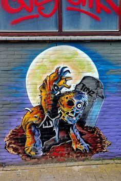 Wall paints, Muurschilderingen, Peintures Murales,Trompe-l'oeil, Graffiti, Murals, Street art.: Rotterdam - Netherlands