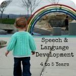 Your Child's Speech & Language: 4 Years to 5 Years